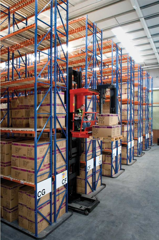 10m high Very Narrow Aisle Pallet Racks designed, manufactured & installed by Redirack