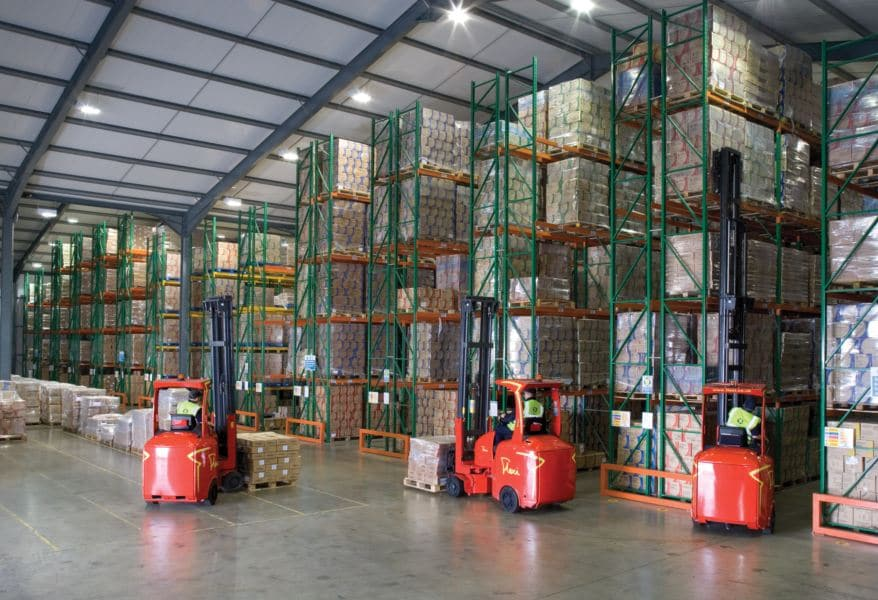 Redirack Narrow Aisle Pallet Racking installed in HPC Healthlines new Warehouse