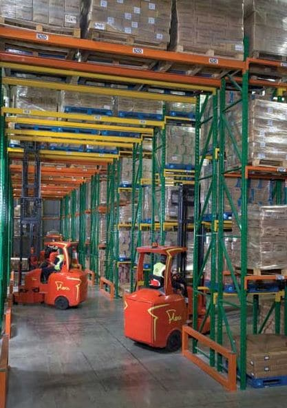 Redirack design, manufacture and install Narrow Aisle Pallet Racks throughout the UK
