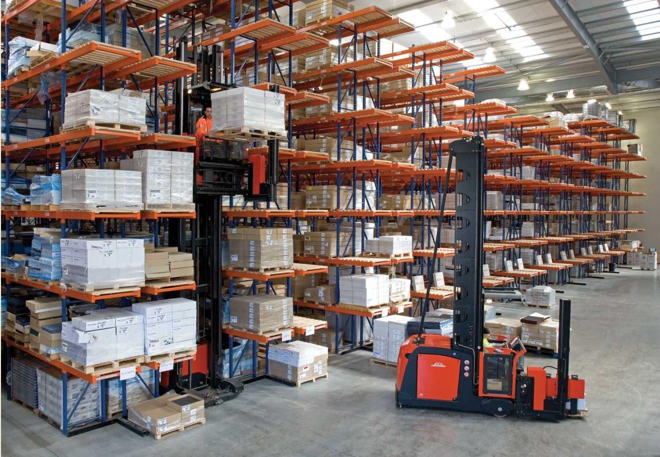 Redirack Very Narrow Aisle Racks installed in Lansdon's Distribution facility