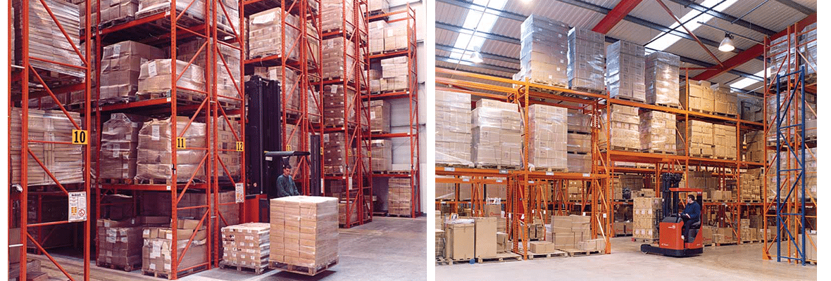 Redirack design Bespoke Pallet Racks for specific needs of Hardware Industry