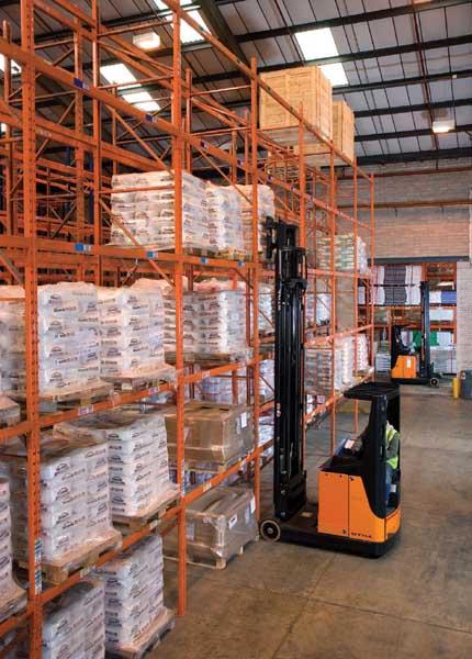 Law Distribution selects Redirack Bespoke Heavy Duty Wide Aisle Pallet Racks