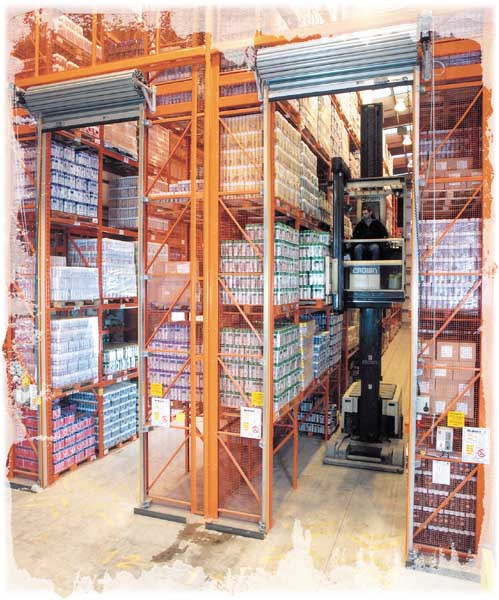 Narrow Aisle Pallet Racking for Chemicals manufacturer Selden Research