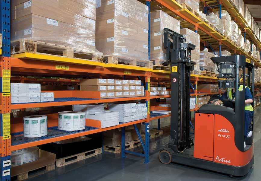 Wide Aisle Pallet Racking is the most commonly used system for palletised goods