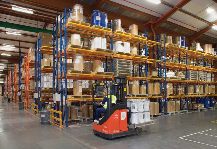 Leading Pharmaceutical company AstraZenica utilises Redirack Wide Aisle Pallet Racks in Warehouse