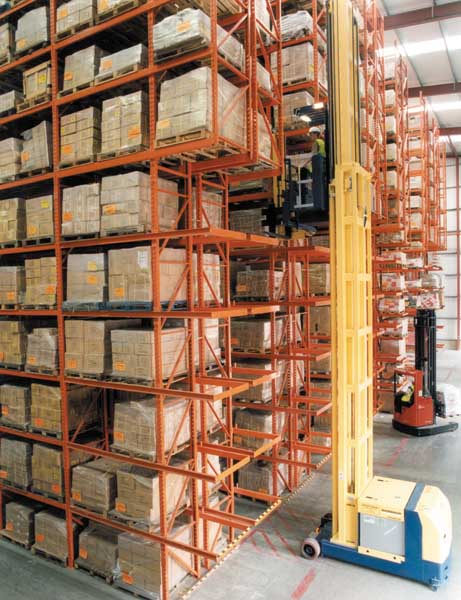 Redirack supply Avocet with High Bay Very Narrow Aisle Pallet Racks