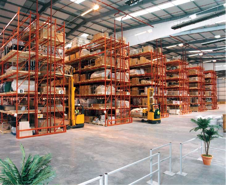 Wide Aisle Pallet Racking manufactured in UK by Redirack