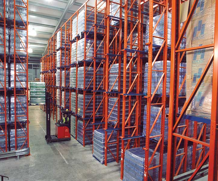 Redirack offer Drive-In Pallet Racking solutions for Springwater Company