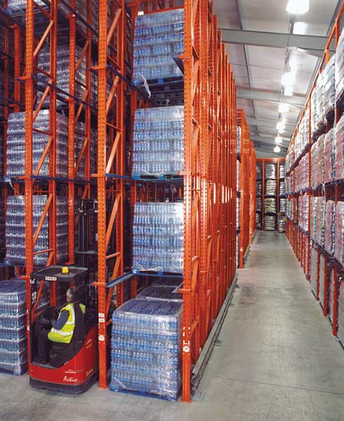Redirack Drive-In Pallet Racks allow users to maximise the available height in your Warehouse