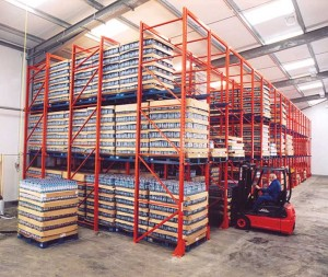 pallet racking drive in