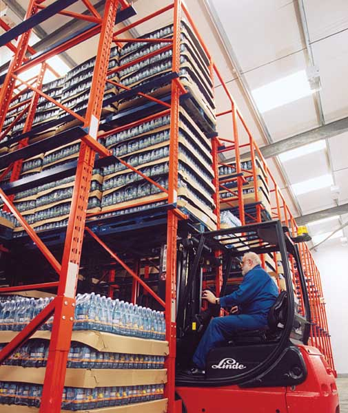 Drive-In Pallet Racks designed, manufactured & installed in UK by Redirack