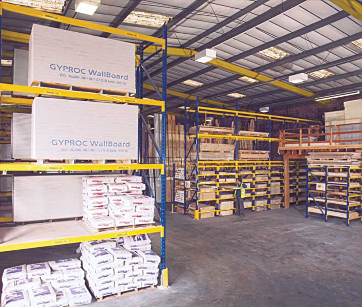Redirack offer perfect Pallet Racking solution for Building Trade Warehouse