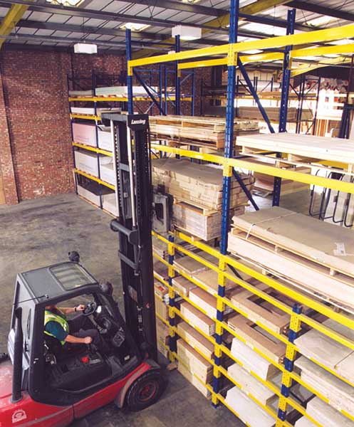 Redirack Wide Aisle Pallet Racking ensures improved selectivity in any warehouse