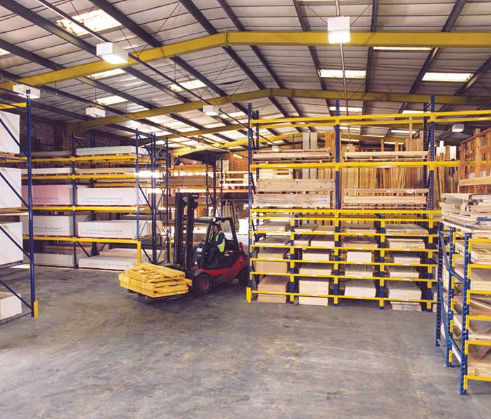 Redirack design three different warehouse layouts for Builders Merchants Ridgeons