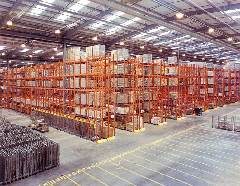 Redirack Wide Aisle Pallet Racks offer ASDA National Distribution Warehouse Storage Solution