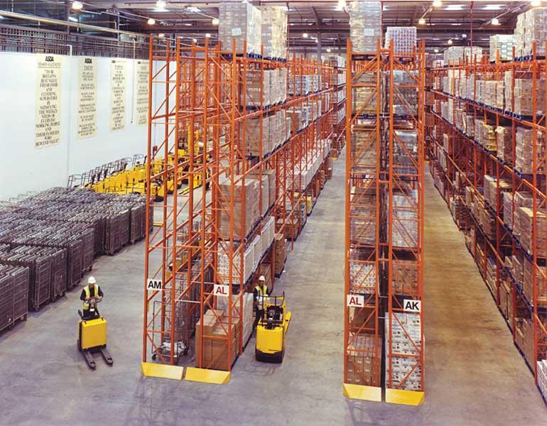 ASDA Distribution Centre use Redirack's Wide Aisle Pallet Racks
