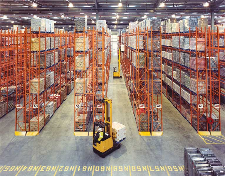 Redirack Wide Aisle Pallet Racks Manufactured in the UK