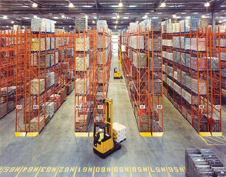 loading racking in ASDA Warehouse