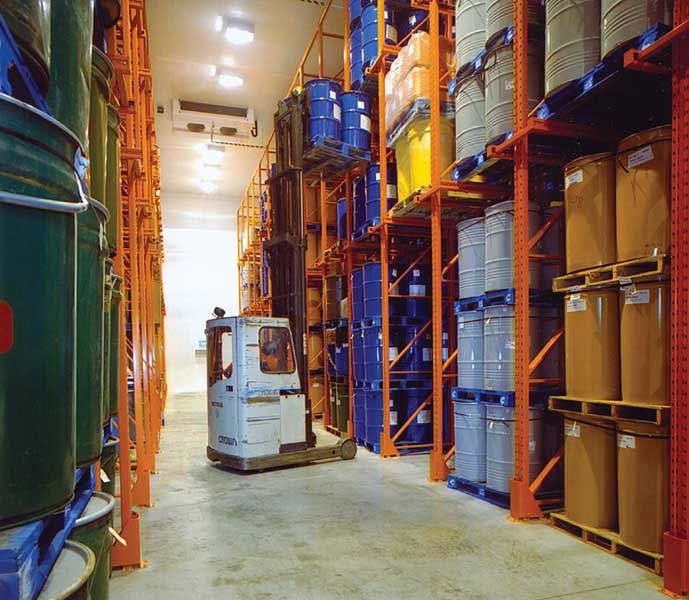 Drive-In Pallet Racking offers an extremely efficient solution for cold store warehouses