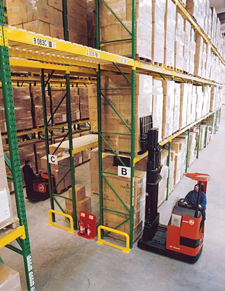 Redirack Wide Aisle Pallet Racks offer a completely adjustable Storage solution