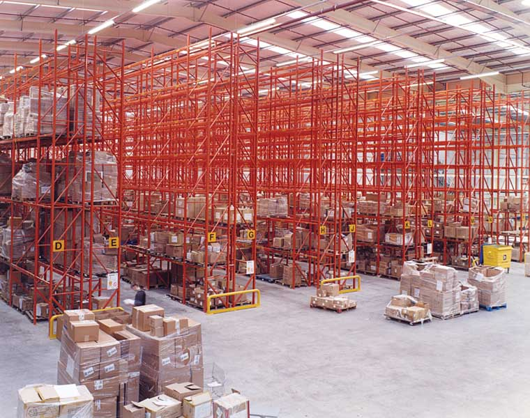 Claires fast moving product lines stored on Redirack Pallet Racks