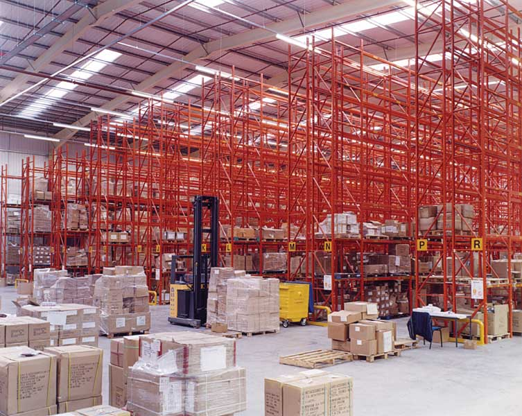 Redirack supplies Claire Inc with Wide Aisle Pallet Racking
