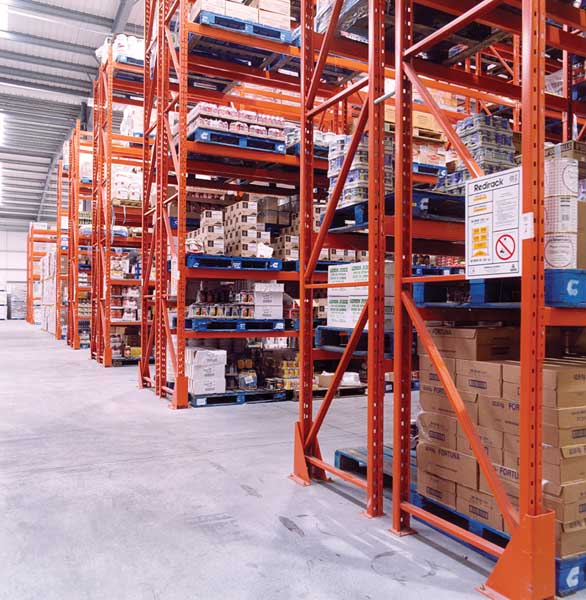 Redirack design, manufacture & install Bespoke Pallet Racking solutions to Retail Sector