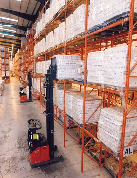 Wide Aisle Pallet Racks improve overall product selectivity to Poundland