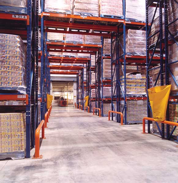 Redirack Supply Narrow Aisle Racks to Confectionary Manufacturer
