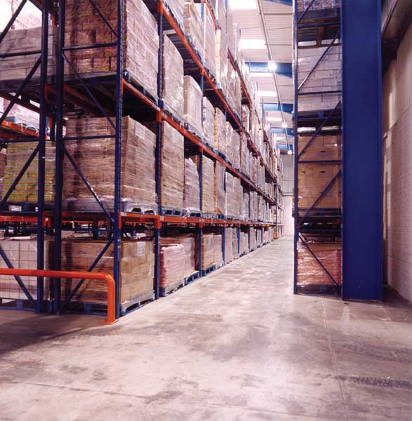 Redirack Design, manufacture and install Narrow Aisle Pallet racking in UK