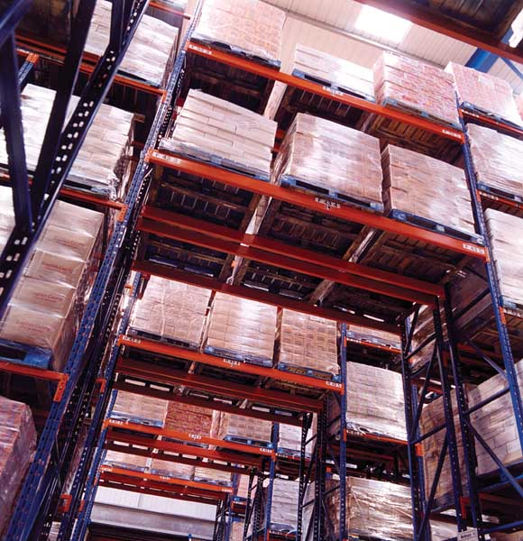 Redirack Narrow Aisle Racking reduces width of aisles in comparison to standard Racks