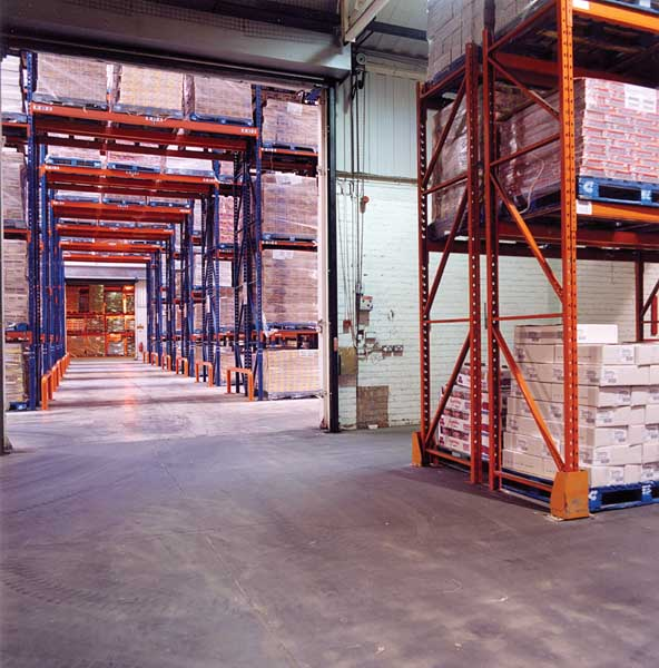 Redirack Bespoke Narrow Aisle Racking solution for Swizzels Matlow