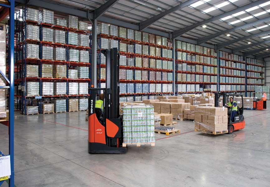 Redirack manufactures Wide Aisle Pallet Racks for Clearway Distribution