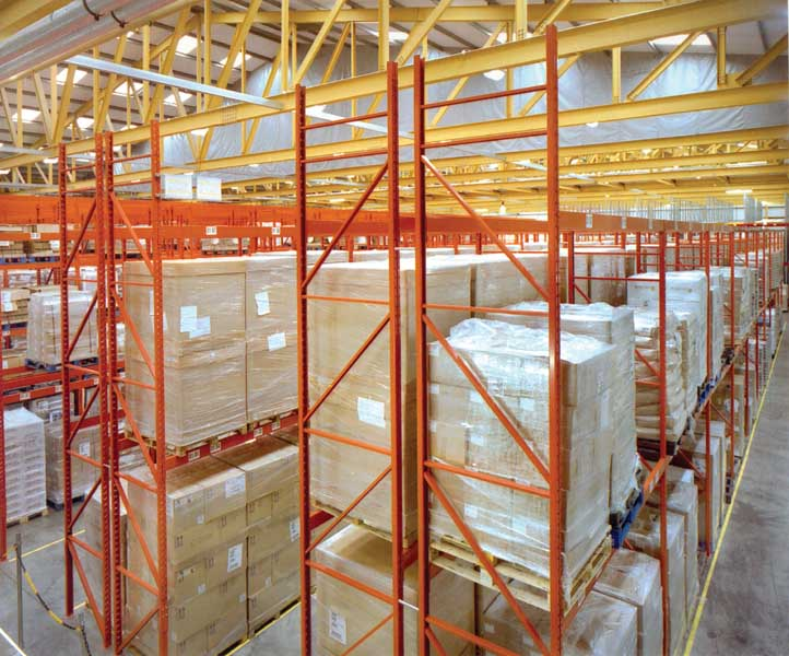 Redirack Narrow Aisle Racks used for Unilever ingredients storage