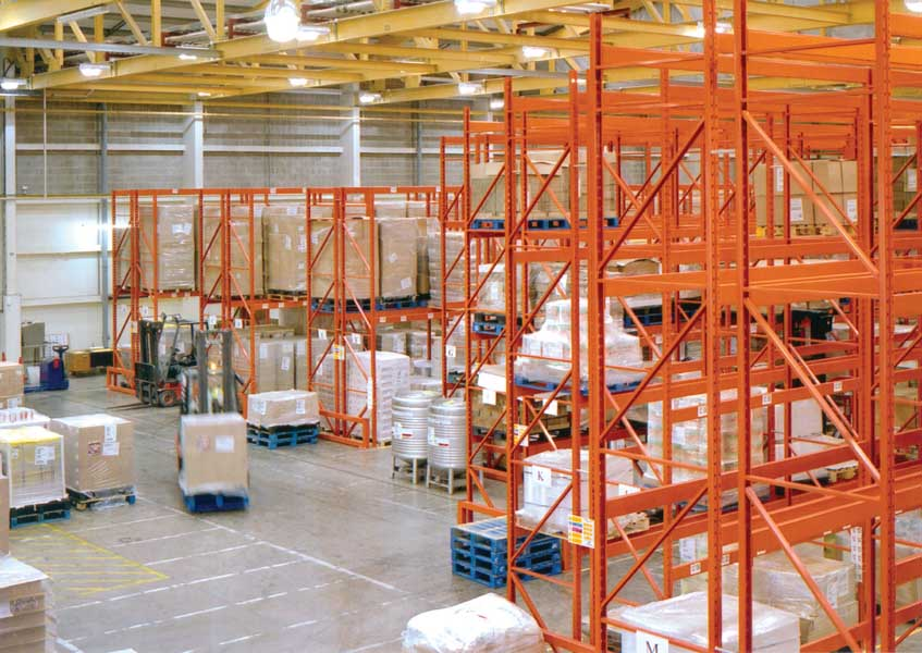 Redirack design, manufacture and install Narrow Aisle Racks for Unilever
