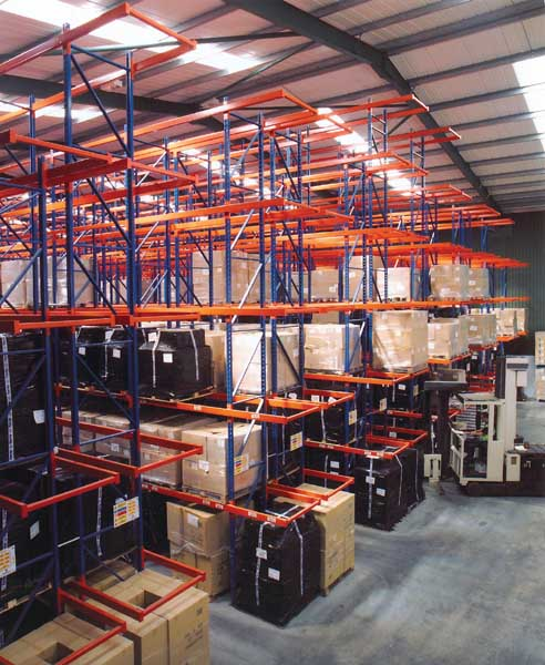 Redirack Narrow Aisle Racks free up an additional 30-40% floorspace in your Warehouse