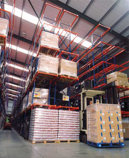 Narrow Aisle Racks from Redirack enable goods to be stored at greater heights