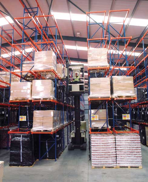 Redirack Narrow Aisle Pallet Racking is an extremeley cost effective Storage method