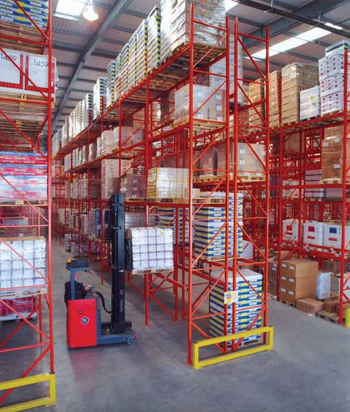 Bespoke Wide Aisle Racking manufactured & installed by Redirack in UK