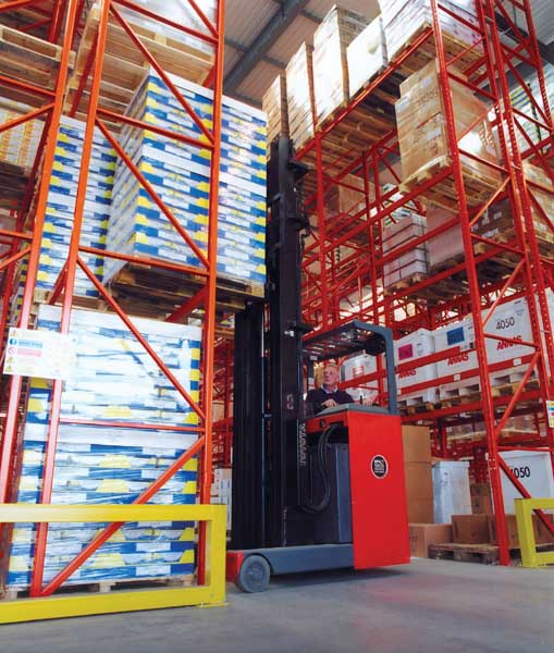 Food Distributor selects Redirack Wide Aisle Storage Solution for chill store