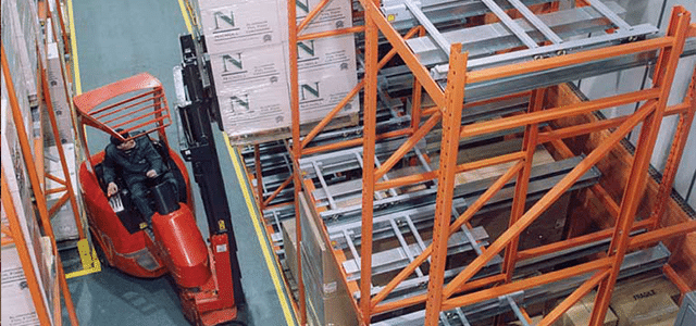 Very Narrow Pallet racking