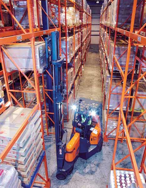 Distribution Warehouse utilising Narrow Aisle Pallet Racking