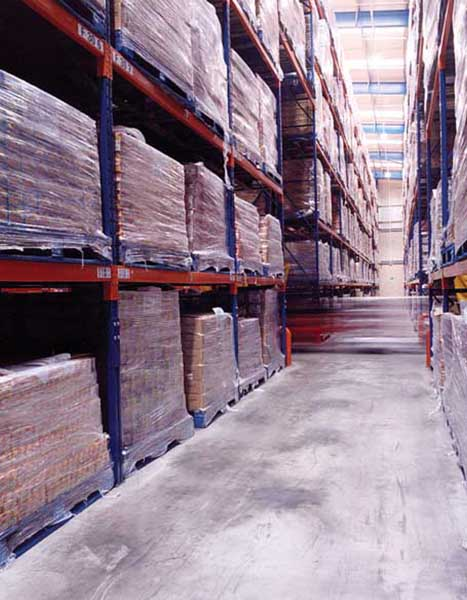 Swizzels foods uses Redirack Narrow Aisle Pallet Racking