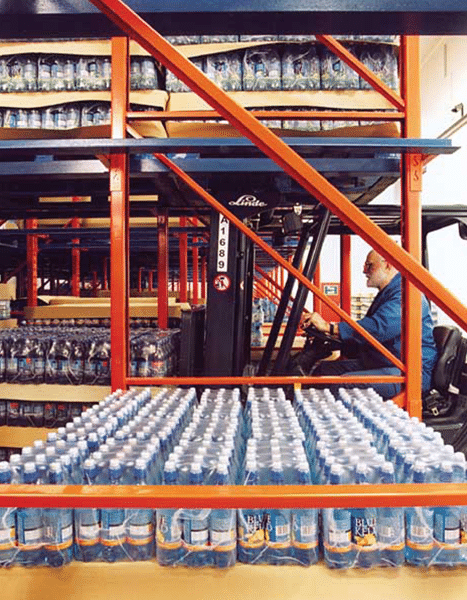 Drive-In Pallet racking for Food Warehousing