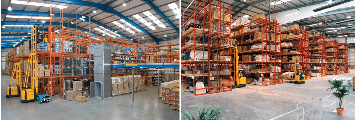 Redirack design bespoke Narrow and Wide Aisle Pallet Racking for Electronics Industry