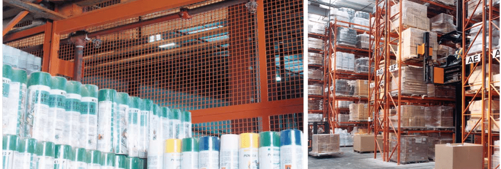 selden research, highly flammable racking