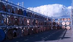 galvanised pallet racking outside