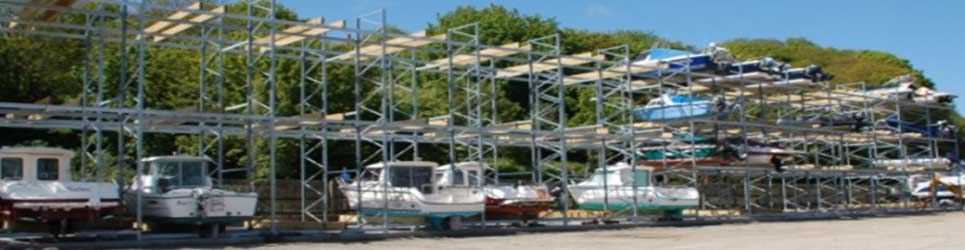 dry boat storage racking