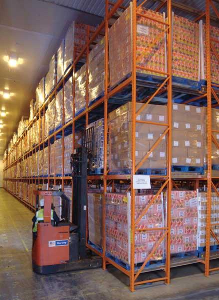 XPO Logistics industrial racking