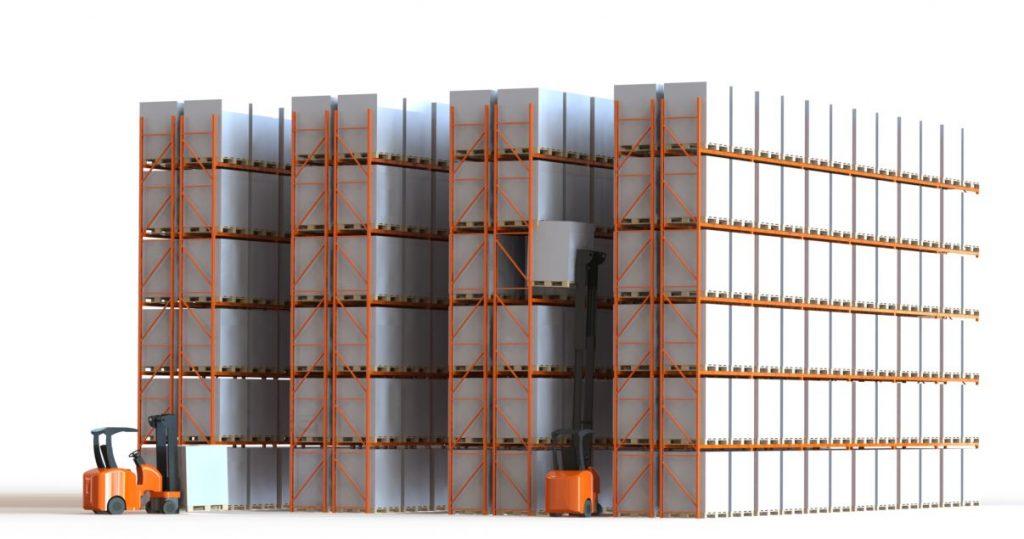 narrow aisle pallet racking diagram